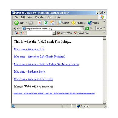 Madonna_homepage_hack